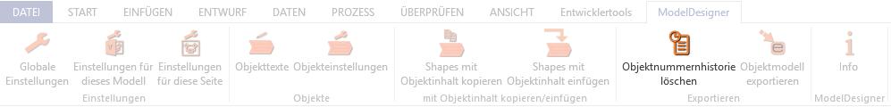 Screenshot ModelDesigner Objektnummerhistorie löschen - Button