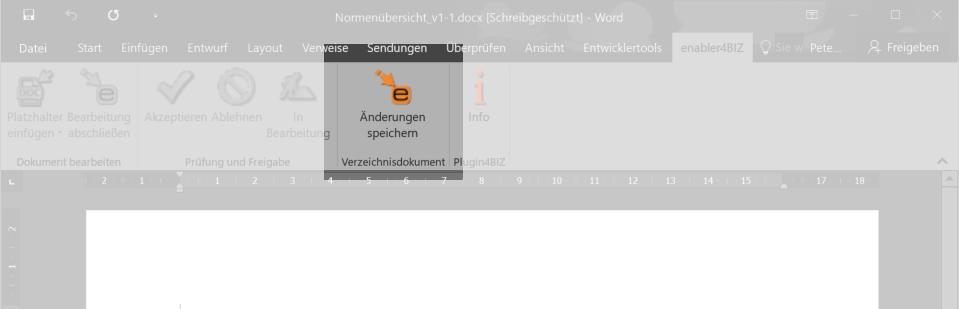 Screenshot Plugin4BIZ-Menü in Microsoft Word