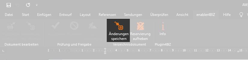 Screenshot Änderungen speichern im Plugin4BIZ Menü