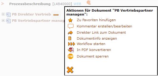 Screenshot Aktionen-Menü