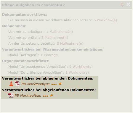Screenshot Verantwortlicher im Offene-Aufgabe-Widget